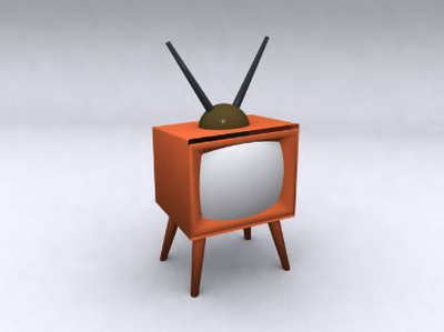 Old Style Television 3dsmax Model 3d Model Download Free