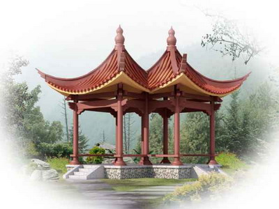 Chinese Architecture£º Coupled Pavilion 3DsMax Model