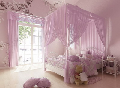 : Pink Bedroom, Interior Scene, Interior Design, Home D