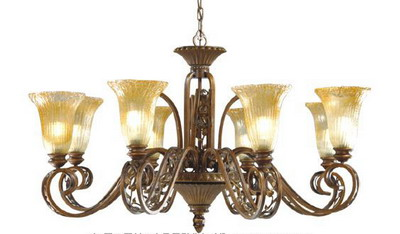 Warm iron chandelier 3D model