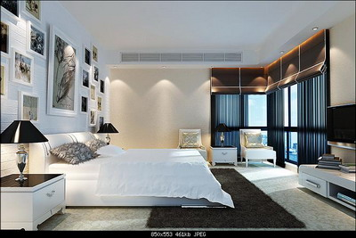 Interior Design Model: Bright and Spacious Bedroom