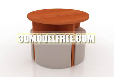 Furniture 3Ds Max Model: Compact Table and Chairs