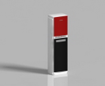 Household Appliance 3DsMax Model: Red and Black Cabinet-Type Air Conditioner Indoor Unit