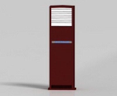 Household Appliance 3DsMax Model: Red Cabinet-Type Air Conditioner Indoor Unit