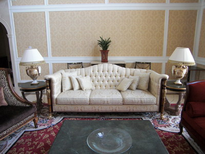 Furniture Model: Victorian White Fabric Sofa