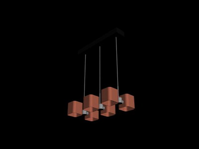 Pendant Lamp Model£º Cuboid Pendant Lamp 3Ds Max Model