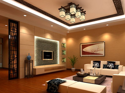 Residential Decor Chinese Style Living Room Model 3d
