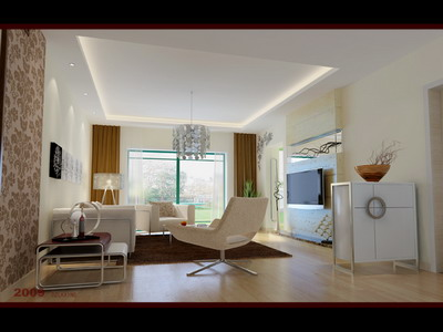Residential Design Simple Style Living Room Design 3ds