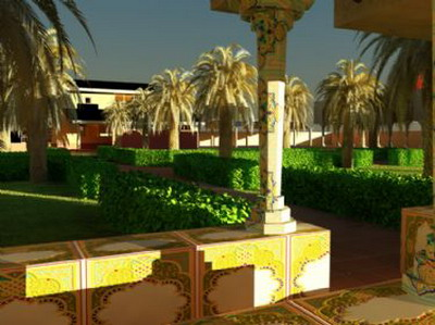 Exterior design southeast asian gardern design 3ds max for Garden design in 3ds max