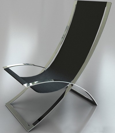 Modern Style Furniture: Silver Lounge Leather Armchair