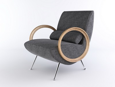 Modern Furniture Model�� Grey Lounge Armchair Livingroom Furniture