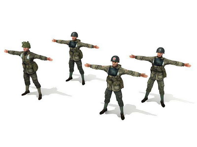 3Ds Max Model: Soldier Toy Soldier Story WWII U.S. Army