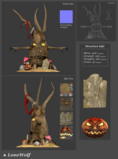 3Ds Max Model£º Tree Monster