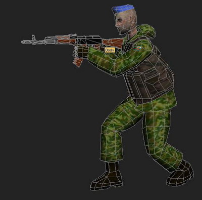 3Ds Max Model: PC Game Soldier Model