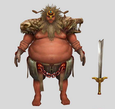 3DsMax Model: Warrior in PC Game