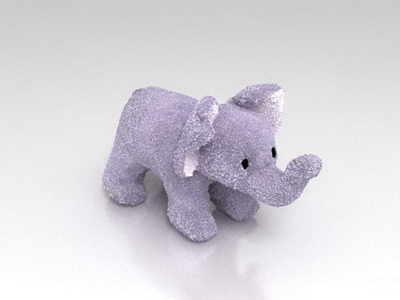 3Ds Max Model: Stuffed Animal Toy Elephant