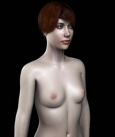 3Ds Max Model: Female Human Body Part