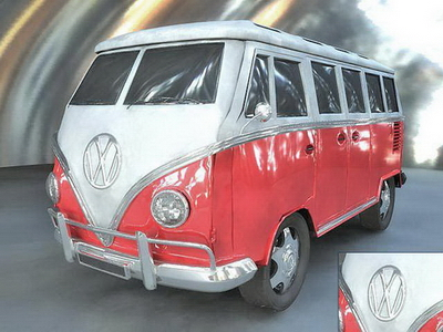 Vehicle 3D Model: Volkswagen Transporter Model