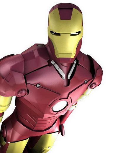 Cartoom Character: Iron Man 3DMax Model