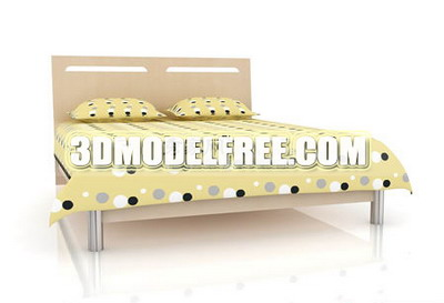 Yellow bed 3D models