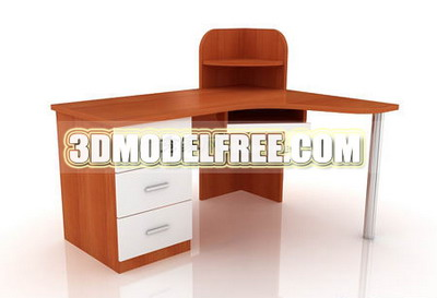 Solid wood cabinet table 3D models