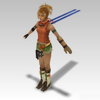 Final Fantasy characters 3D models