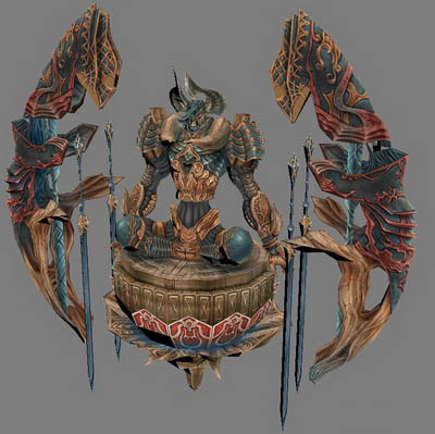 PC Game Character 3d Model: Chaos Role of Final Fantasy