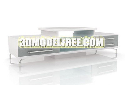 Funiture 3Ds Max Model: TV Bench White