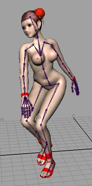 Female Human Body Part 3D Max Model