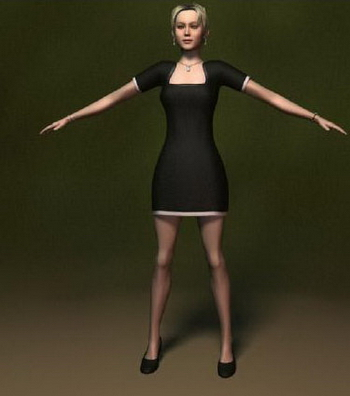 Human Model: White Female 3Ds Max Model 3dmodelfree 3D ...