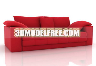 Furniture 3d Model: Modern Style Couch 3ds Max Model 3DModelfree