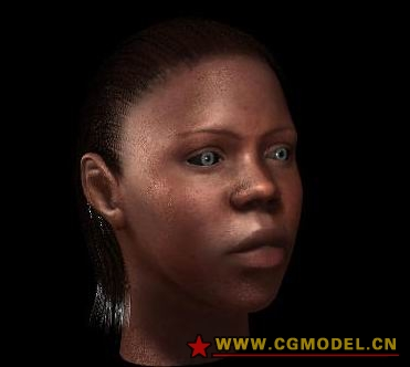 Human Model: African Female Head Maya Model