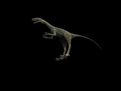 Animal Model: Small Size Carnivorous Dinosaur 3dS Max Model
