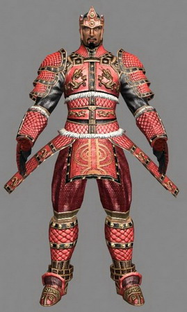 PC 3D Character: Warrior in Red Armour