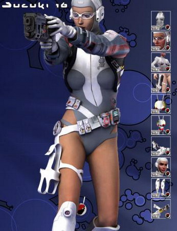 PC Game 3D Character: Future Female Fighter