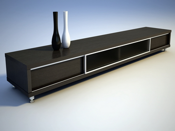 Black cabinet TV cabinet furniture, fine furniture, decoration daily life 3D model