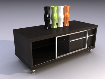 Cabinet TV cabinet 3D model of stylish modern furniture, lockers