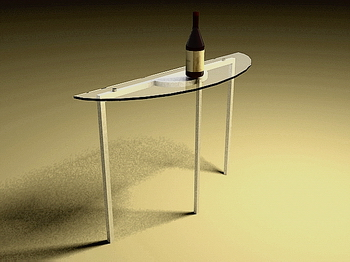 Glass table stylish table, modern furniture 3D Models