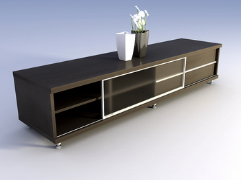 Fine furniture, solid wood cabinet TV cabinet 3D Model