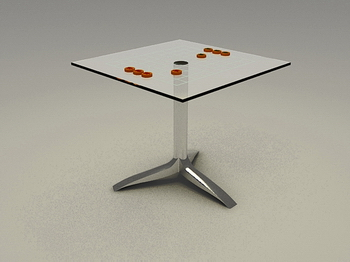 Modern Chess Table chess chess chess table, chess table 3d model of high-end coffee
