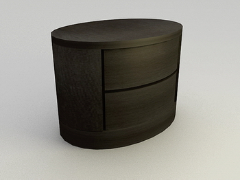 Round Storage cabinets solid wood cabinets and practical 3D model of household furniture