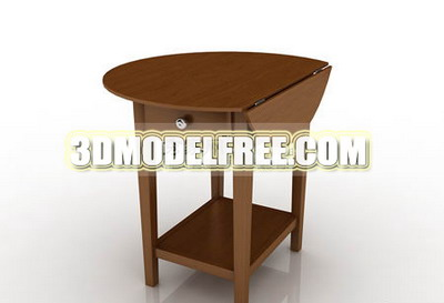 Multi-function desk drawer coffee table furniture, wood home 3D Models