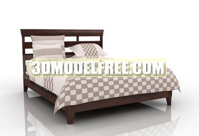Bed soft bed solid wood furniture, home furniture 3D Models