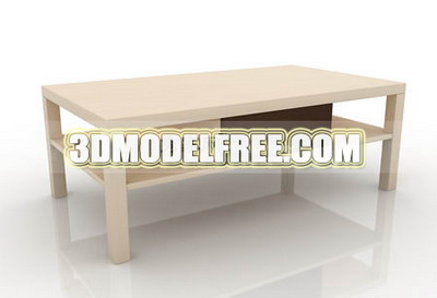 Tea table, coffee table decorations simple furniture, simple 3D models