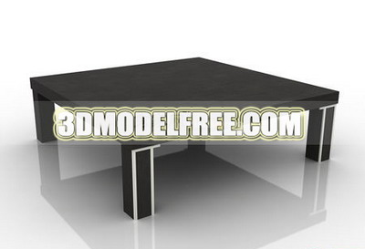 3D Model of Simple-type solid wood table