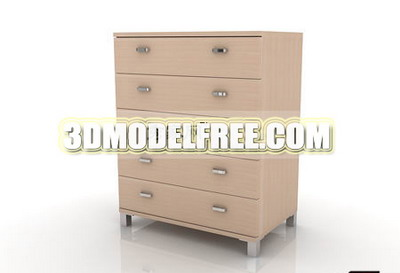 3D Model of wooden furniture, cabinets