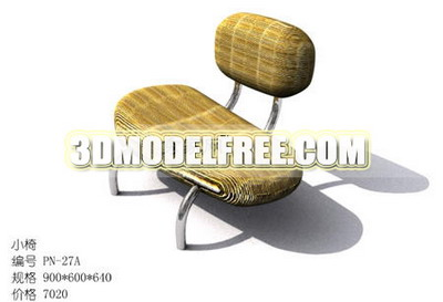 Double-bed table chair chair 3D model of woven rattan