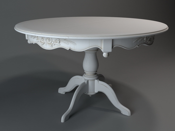 European Round Table 3d Model Of 2 3d Model Download Free