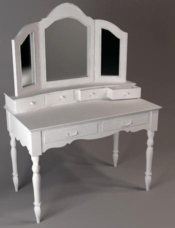 3d Model Of European Style Dressing Table 3d Model