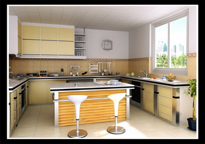 Country Style Kitchen With Map 3d Model Download Free 3d Models